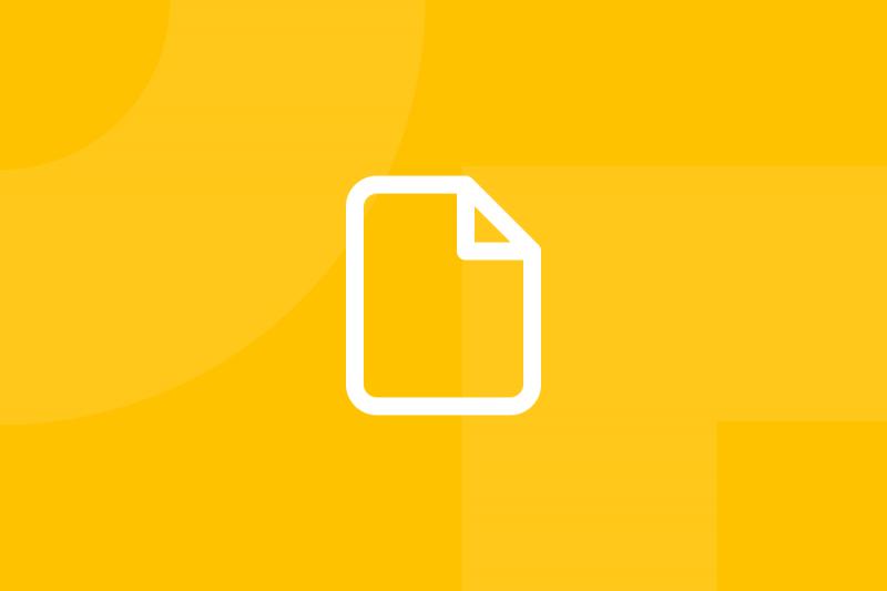 Ícone em tons de amarelo alusivo ao termo Questionnaires