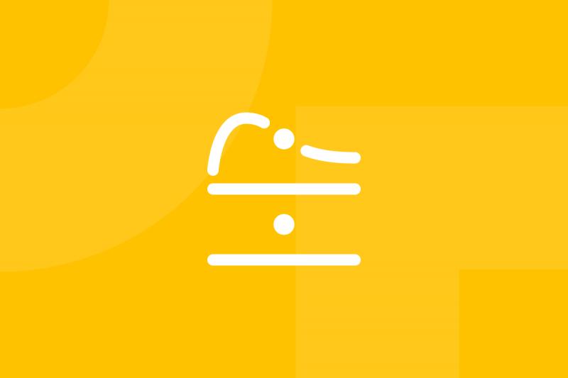 Ícone em tons de amarelo alusivo ao termo Service blueprint