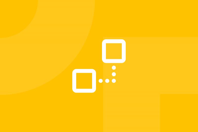 Ícone em tons de amarelo alusivo ao termo User flow