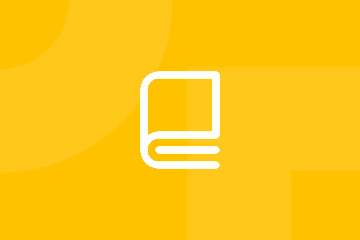 Ícone em tons de amarelo alusivo ao termo User stories