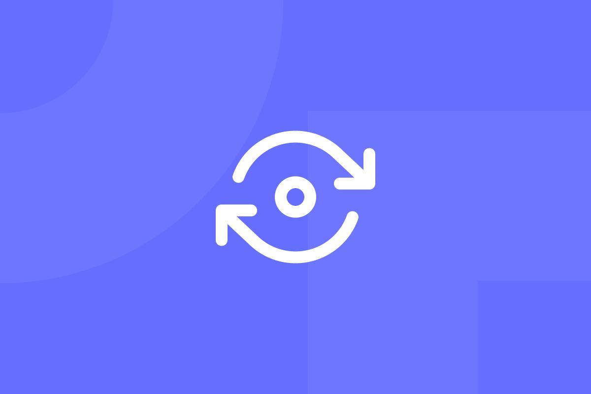 Ícone em tons de roxo alusivo ao termo Circular design guide