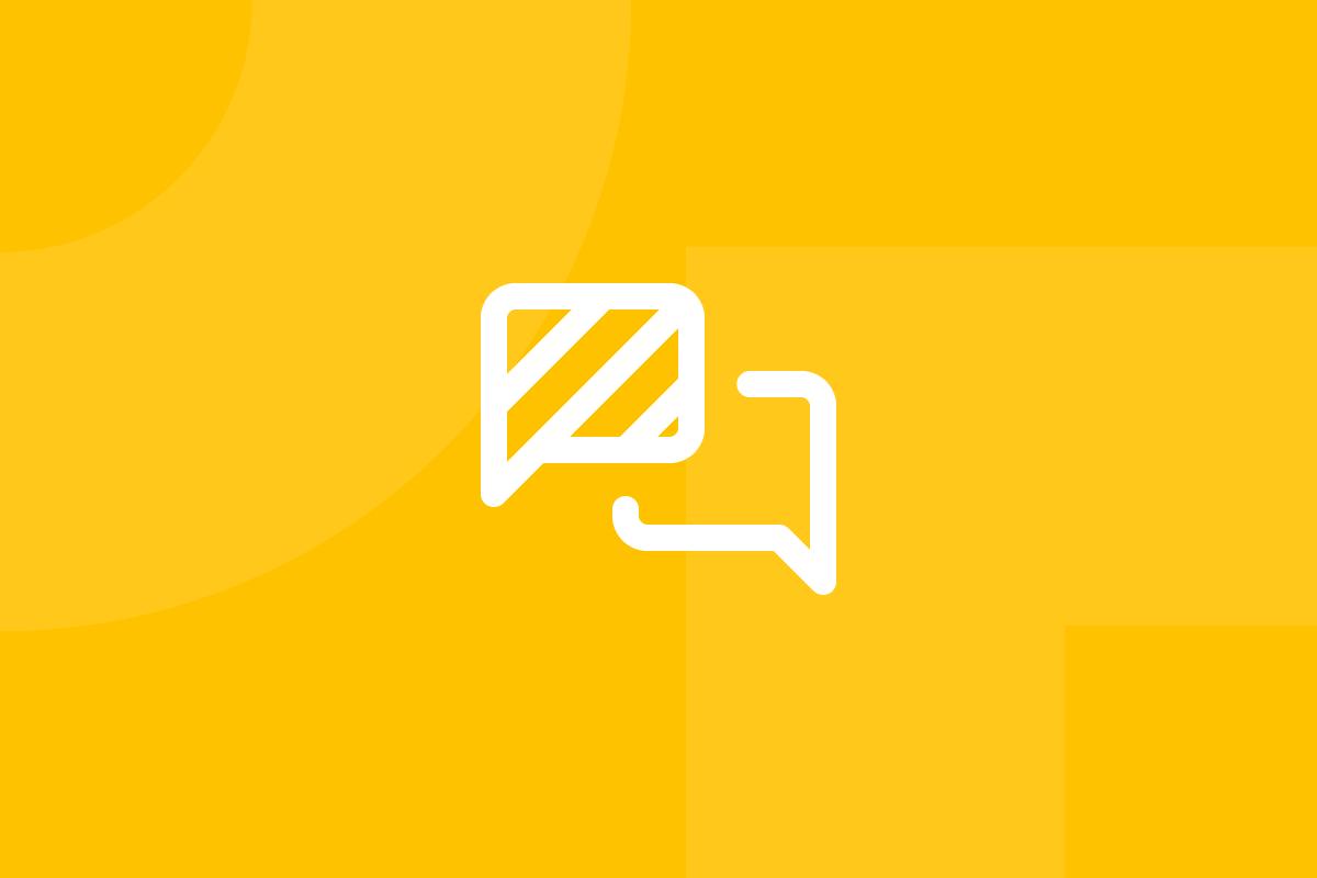 Ícone em tons de amarelo alusivo ao termo IDEO brainstorming