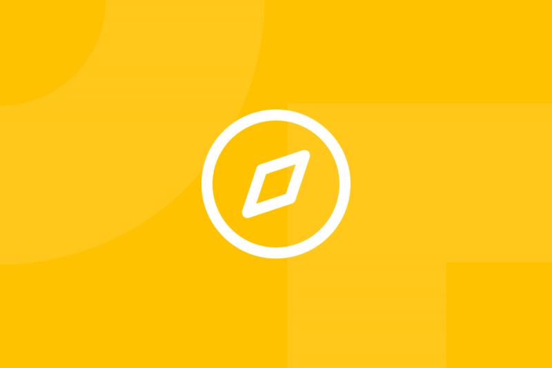 Ícone em tons de amarelo alusivo ao termo 55 business models
