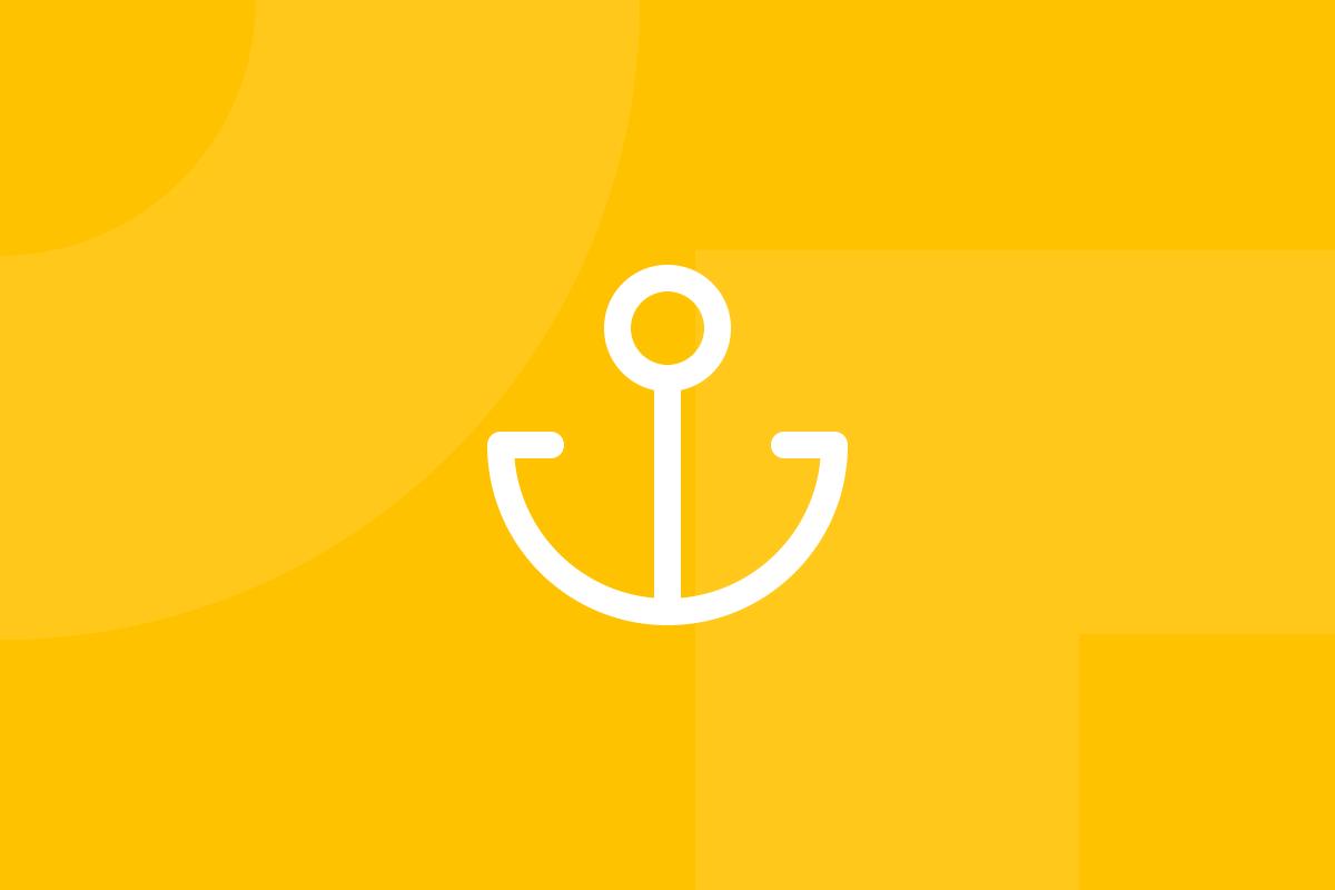 Ícone em tons de amarelo alusivo ao termo Blue ocean strategy
