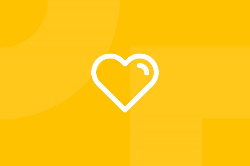 Ícone em tons de amarelo alusivo ao termo Empathy map