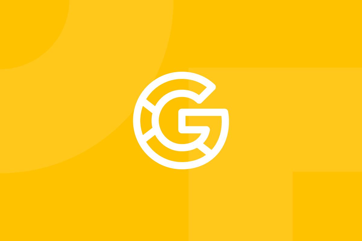 Ícone em tons de amarelo alusivo ao termo Google material design