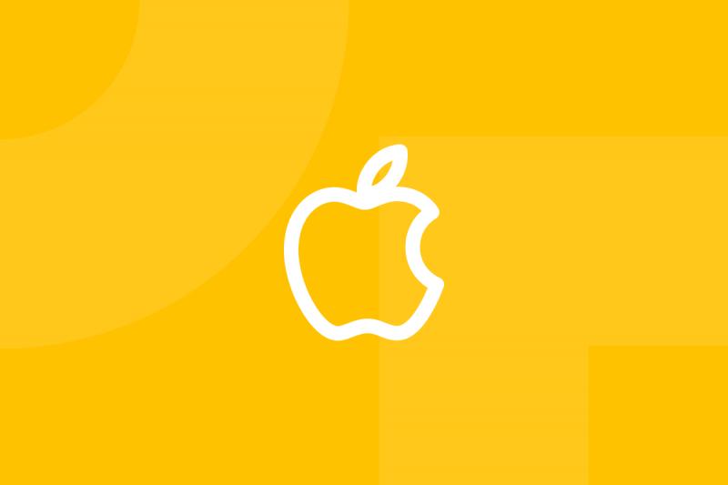 Ícone em tons de amarelo alusivo ao termo Human interface guidelines