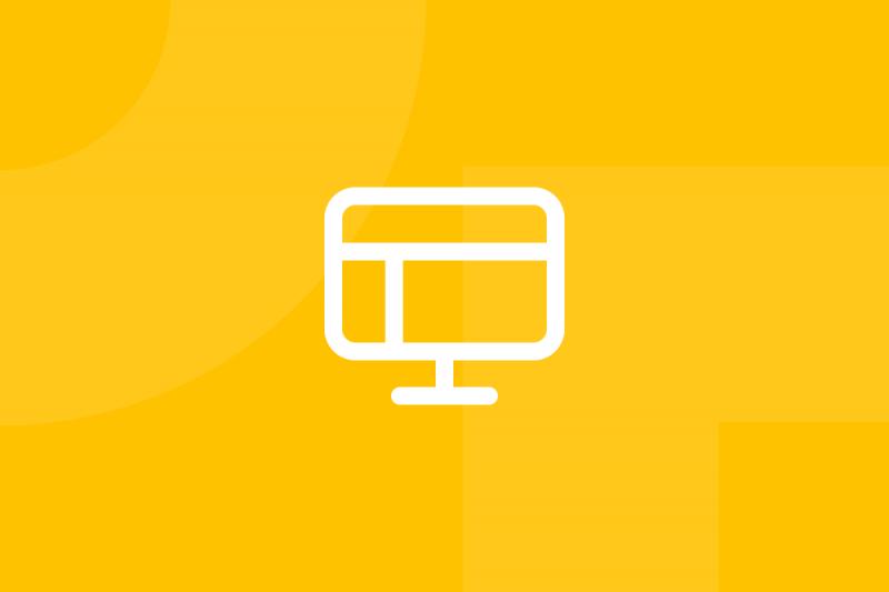 Ícone em tons de amarelo alusivo ao termo Invision app