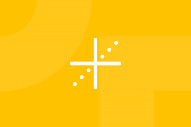 Ícone em tons de amarelo alusivo ao termo Kano model