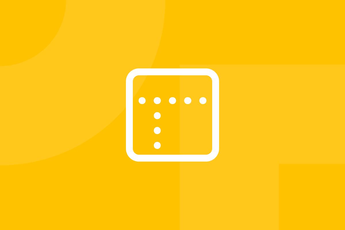Ícone em tons de amarelo alusivo ao termo Low-fidelity prototype