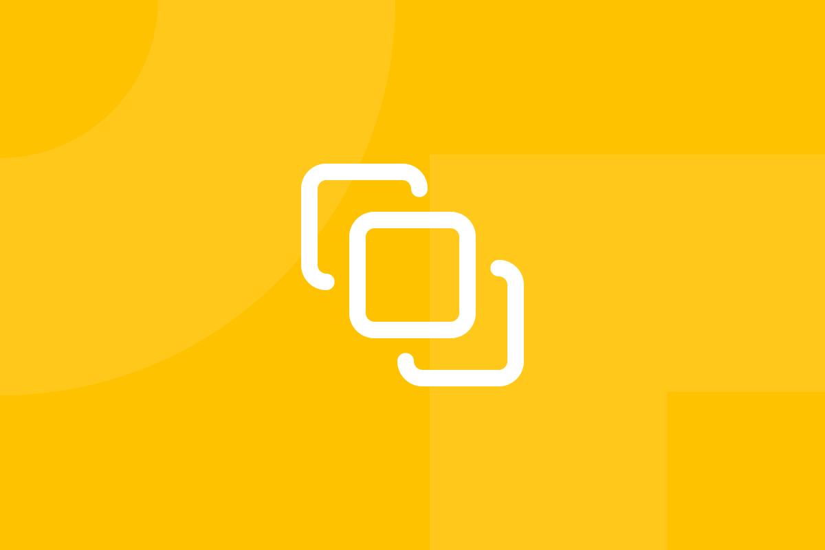 Ícone em tons de amarelo alusivo ao termo Prototype tools