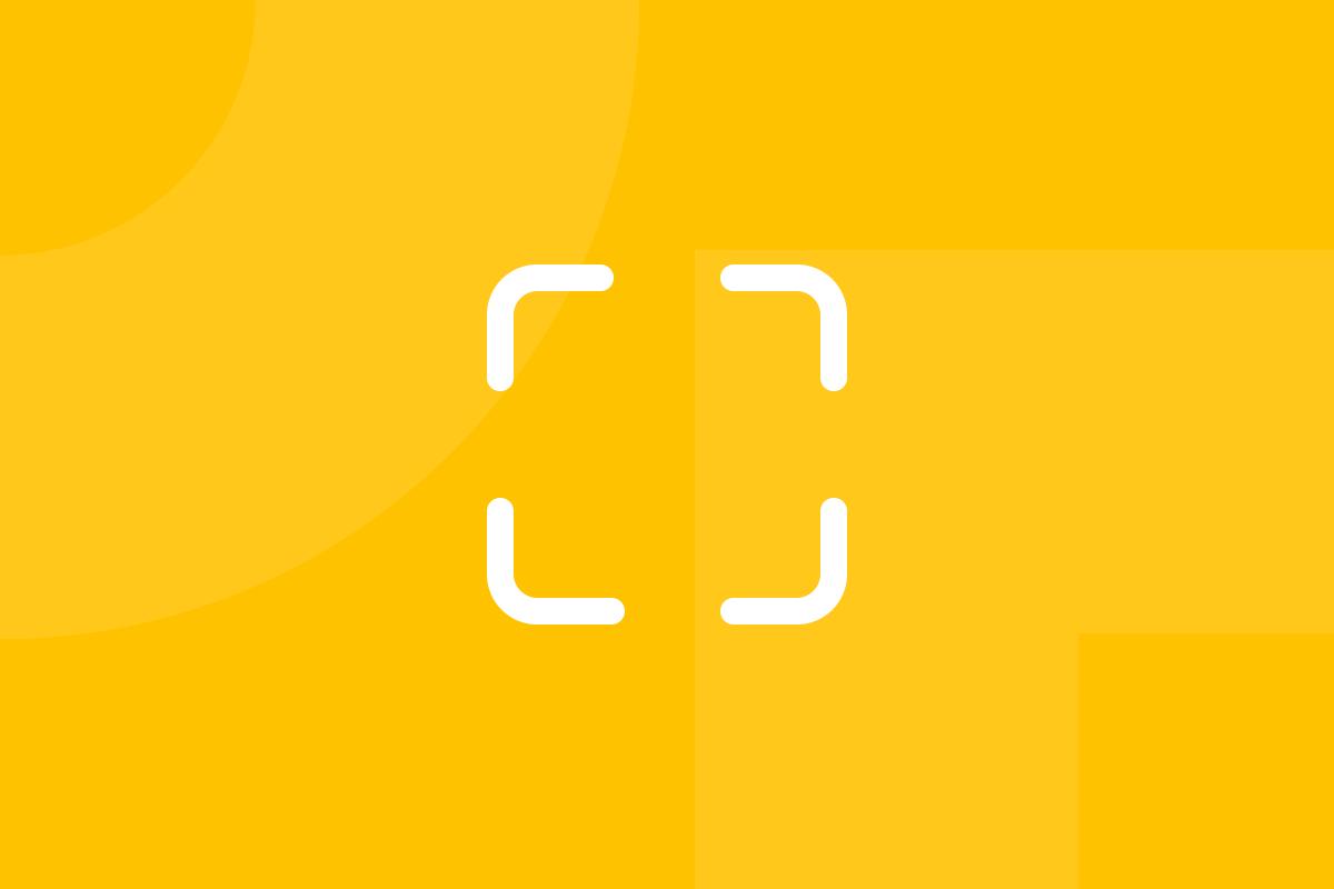 Ícone em tons de amarelo alusivo ao termo Scenarios