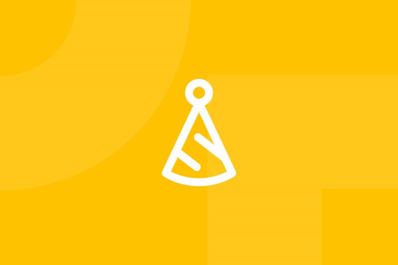 Ícone em tons de amarelo alusivo ao termo Six thinking hats