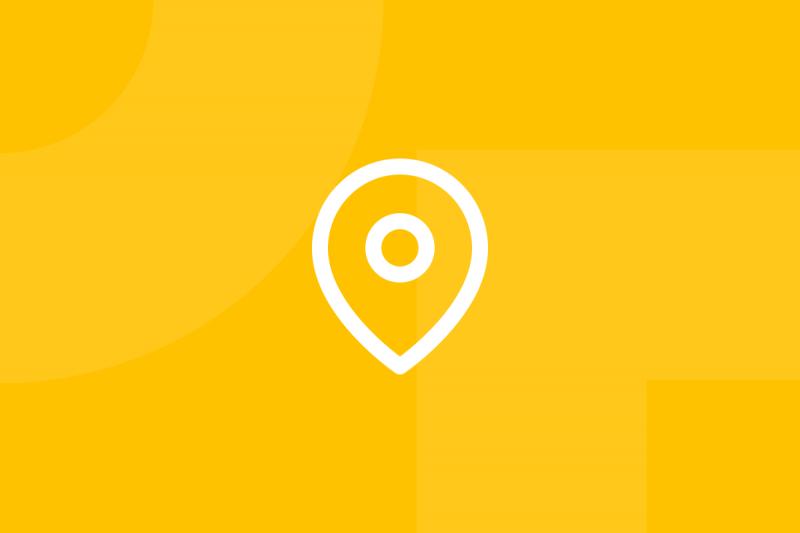 Ícone em tons de amarelo alusivo ao termo Stakeholder map