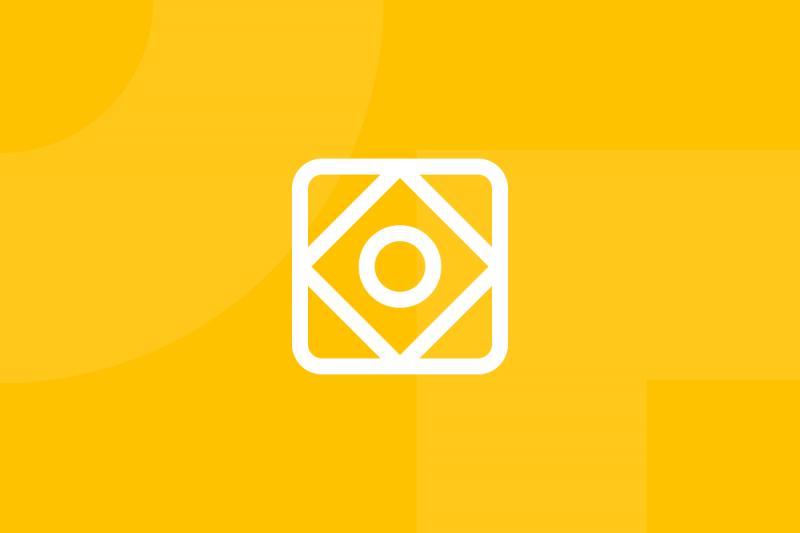 Ícone em tons de amarelo alusivo ao termo Style tiles
