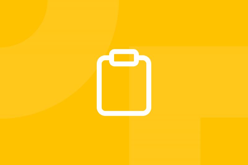 Ícone em tons de amarelo alusivo ao termo Styleguide