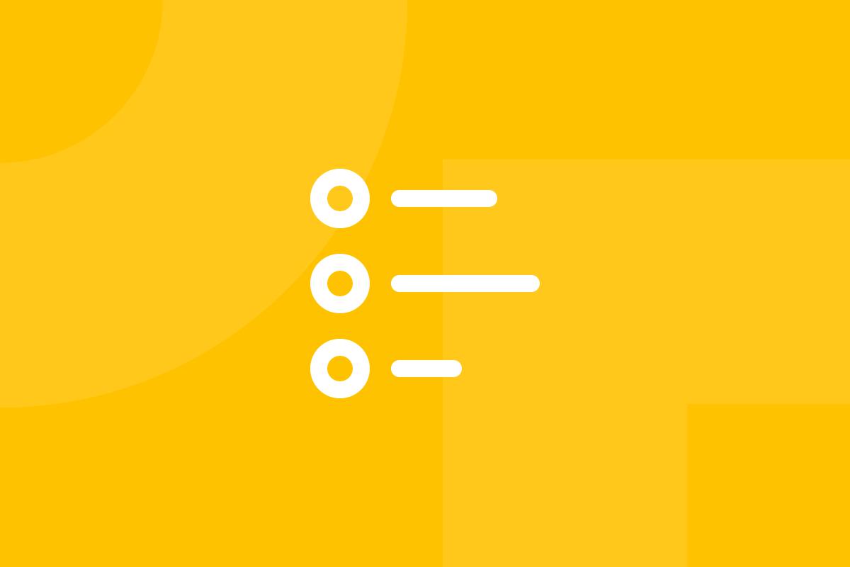 Ícone em tons de amarelo alusivo ao termo Task analysis