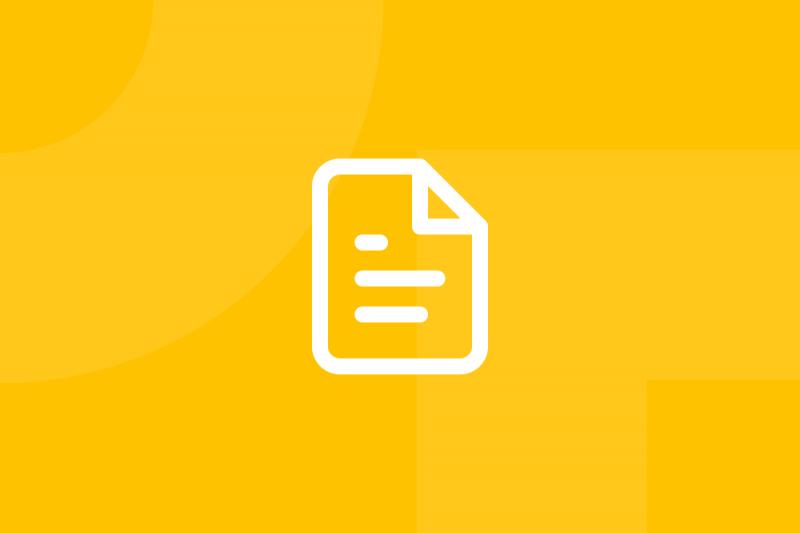 Ícone em tons de amarelo alusivo ao termo Use case