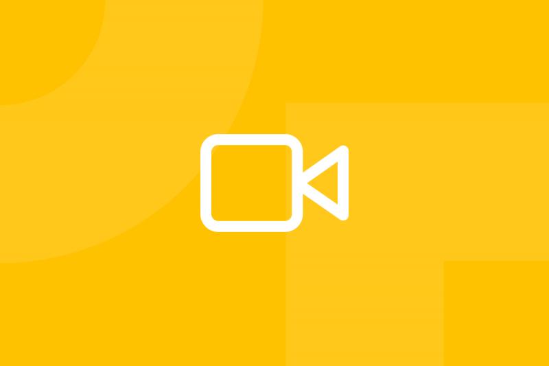 Ícone em tons de amarelo alusivo ao termo User recording
