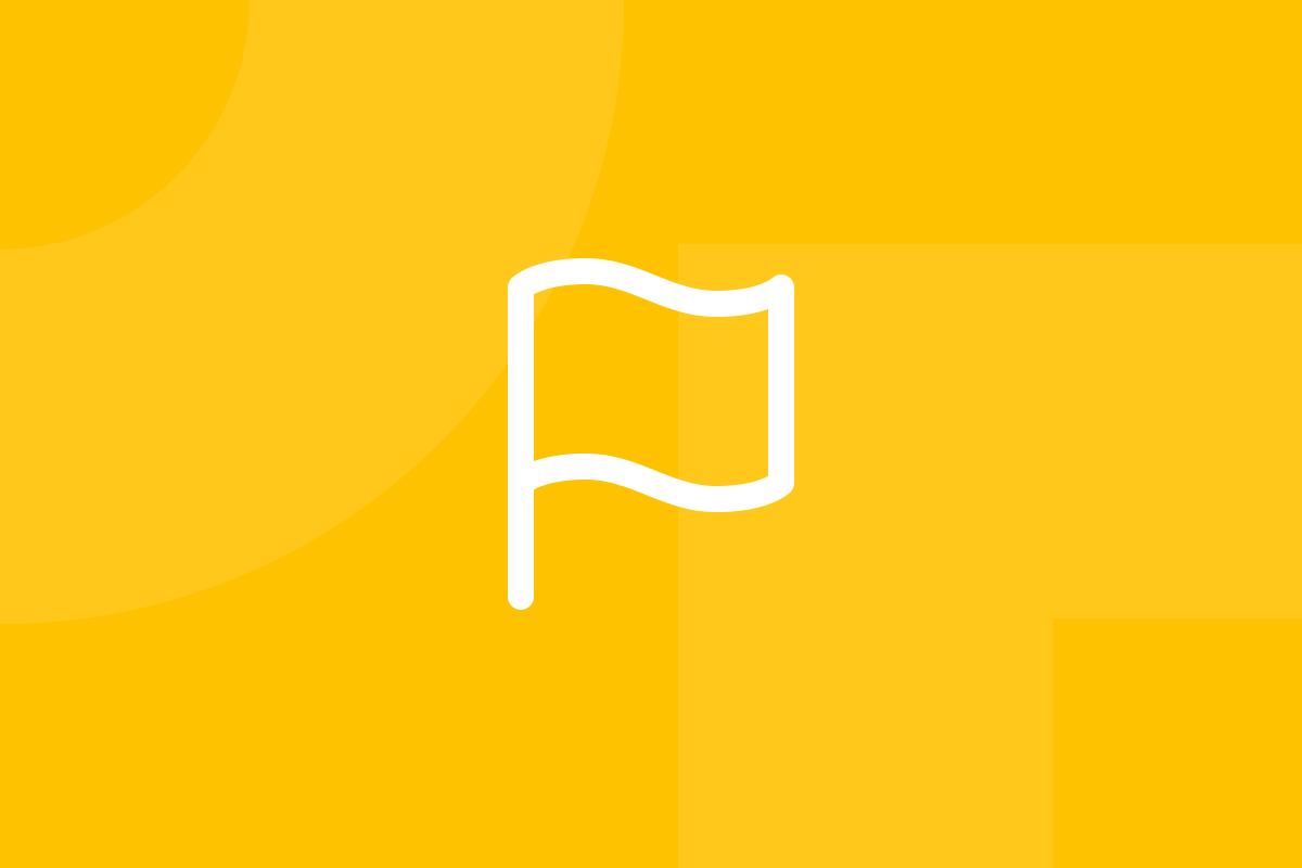 Ícone em tons de amarelo alusivo ao termo Design brief