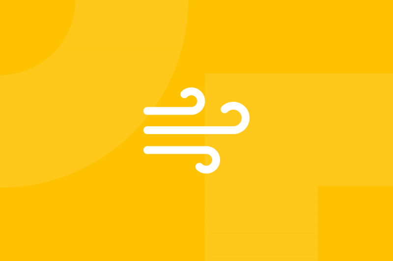 Ícone em tons de amarelo alusivo ao termo Napkin pitch
