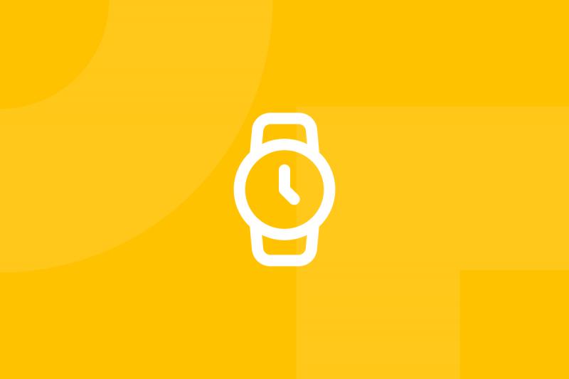 Ícone em tons de amarelo alusivo ao termo Five seconds test