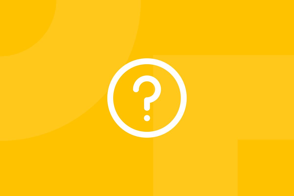 Ícone em tons de amarelo alusivo ao termo How might we questions