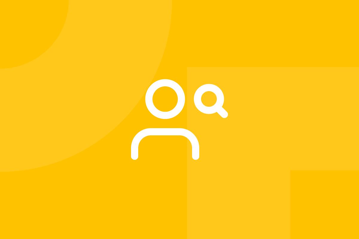 Ícone em tons de amarelo alusivo ao termo UX Expert review