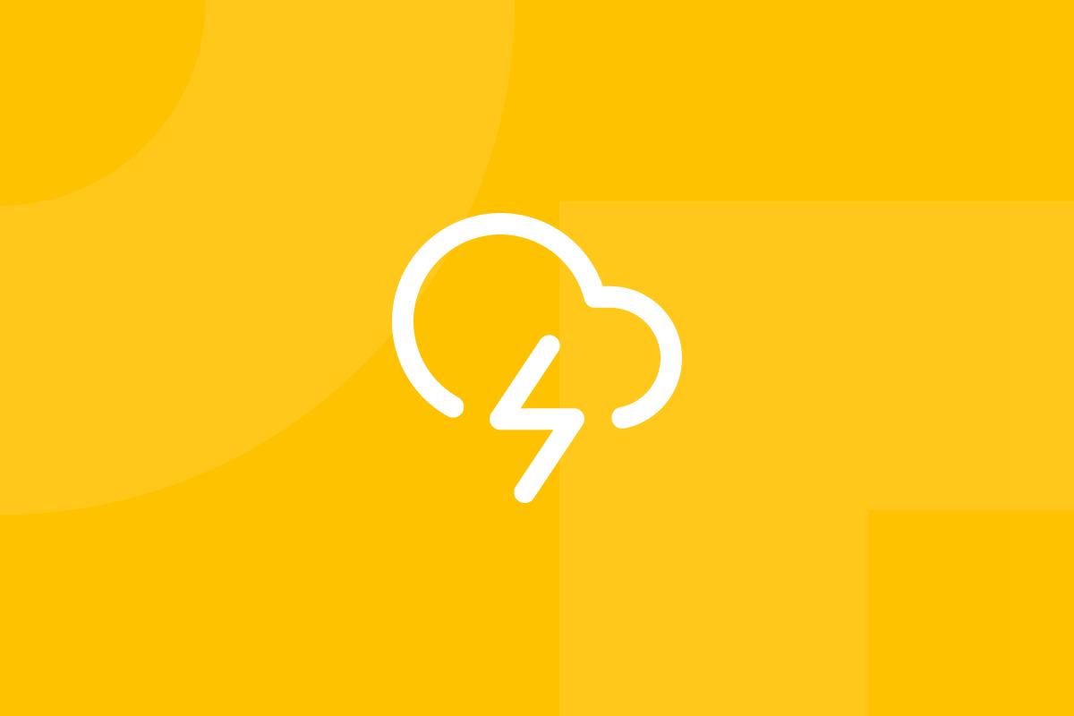 Ícone em tons de amarelo alusivo ao termo Workshops