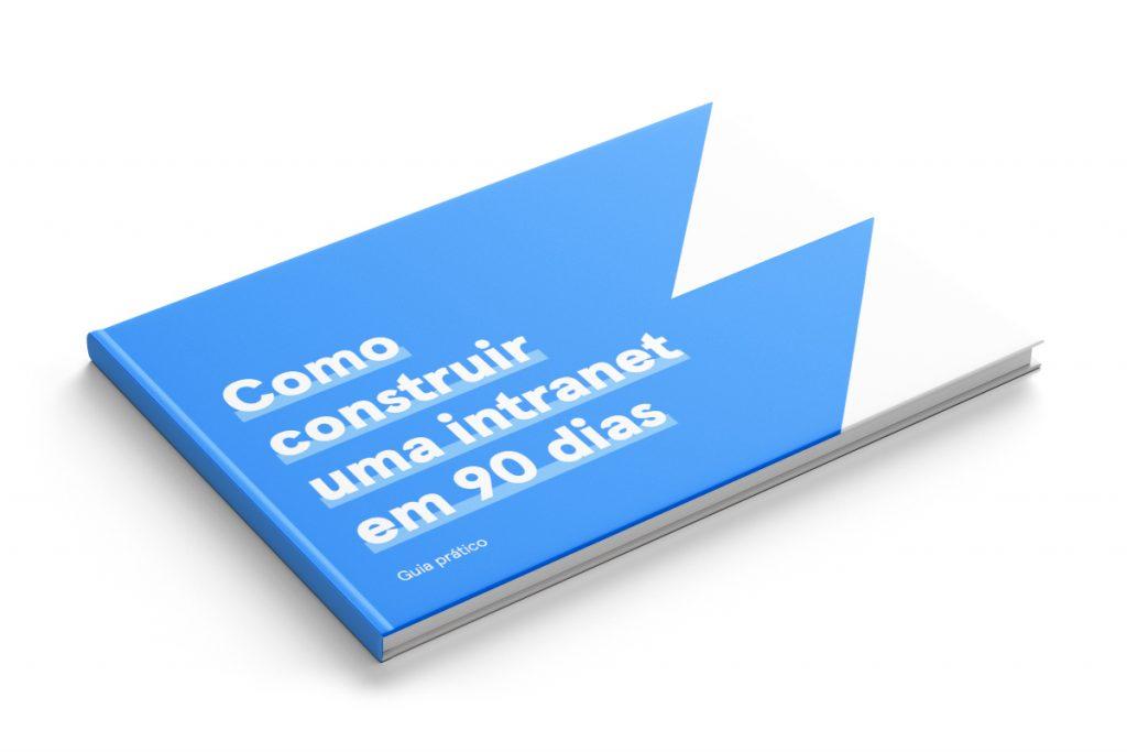 Ilustração da capa do guia prático como construir uma intranet em 90 dias