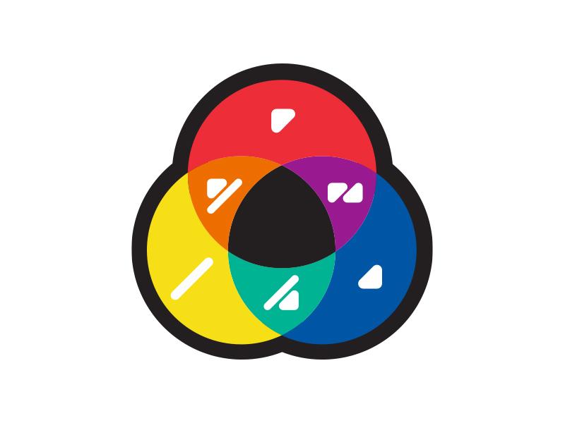 Ilustração do círculo de cores do ColorADD
