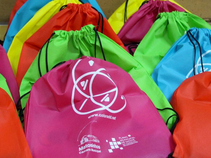 Fotografia de exemplos de sacos de colocar às costas