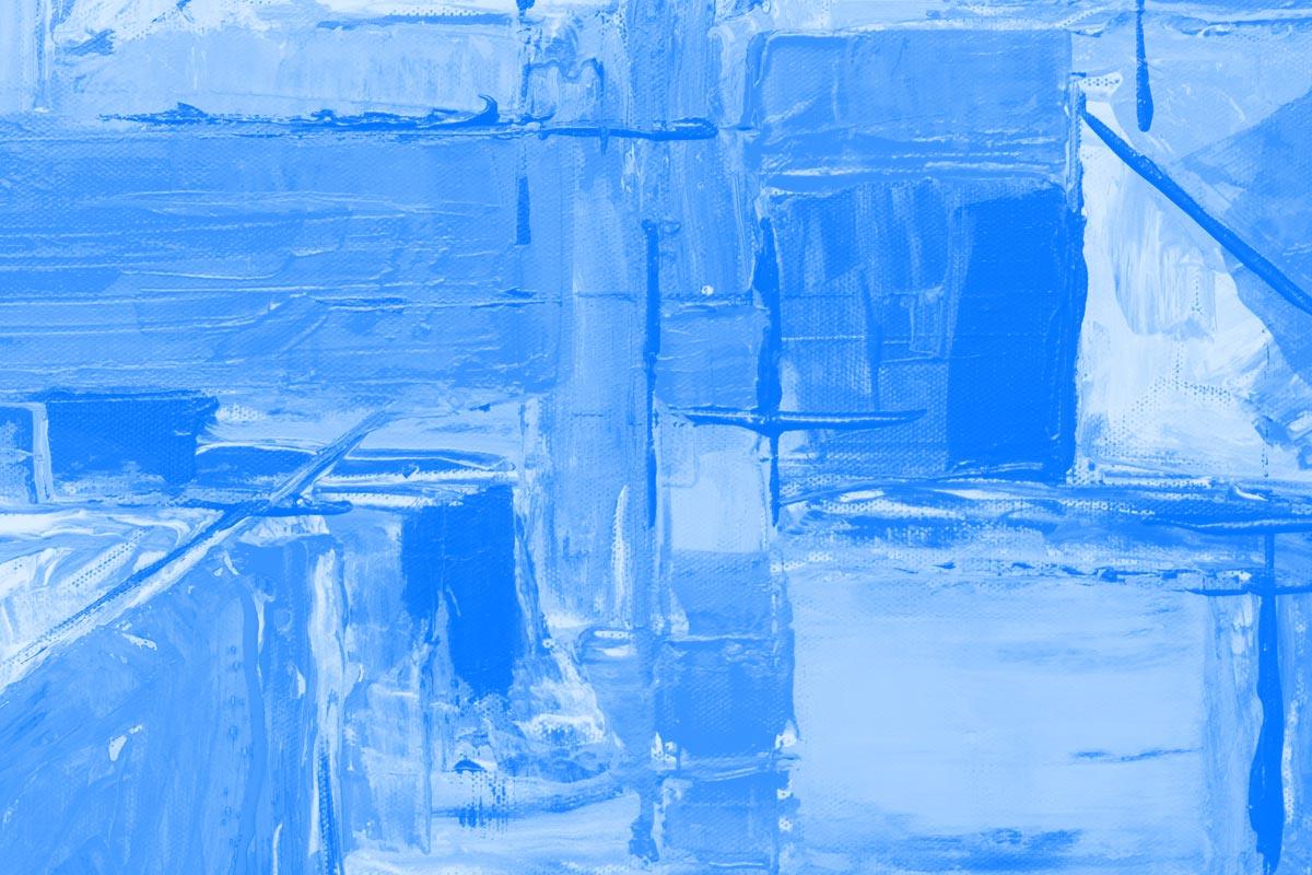 Fotografia de pintura abstracta alusiva aos conceitos de trabalho colaborativo e intranet