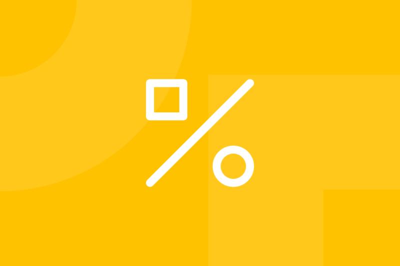 Ícone em tons de amarelo alusivo ao termo A/B testing