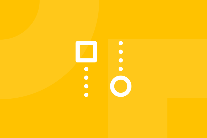 Ícone em tons de amarelo alusivo ao termo competitive analysis