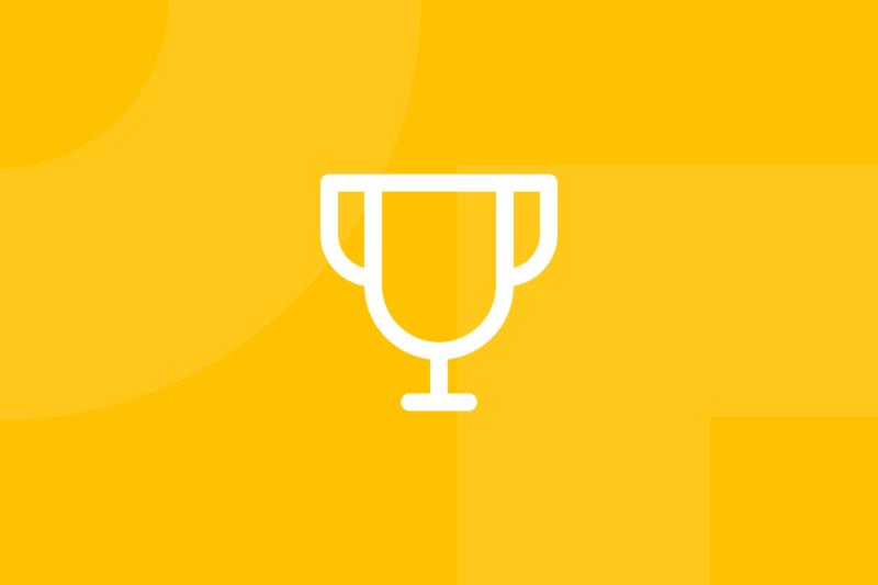 Ícone em tons de amarelo alusivo ao termo critical success factors