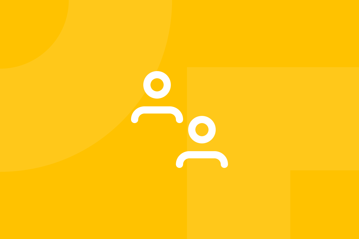 Ícone em tons de amarelo alusivo ao termo focus group