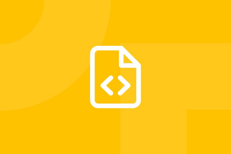 Ícone em tons de amarelo alusivo ao termo functional description