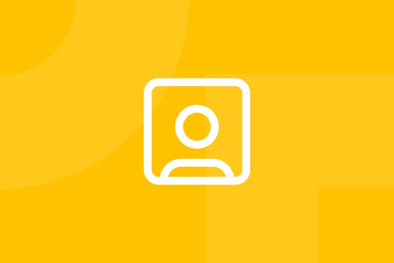 Ícone em tons de amarelo alusivo ao termo personas