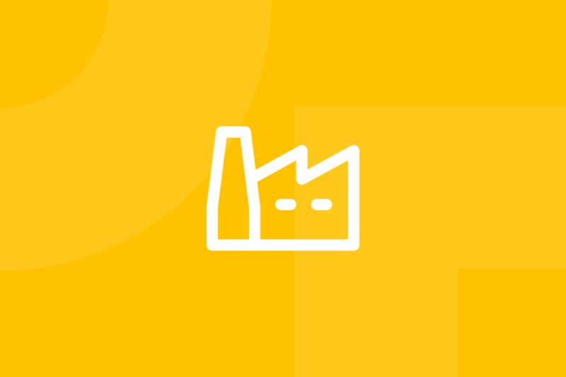 Ícone em tons de amarelo alusivo ao termo six sigma