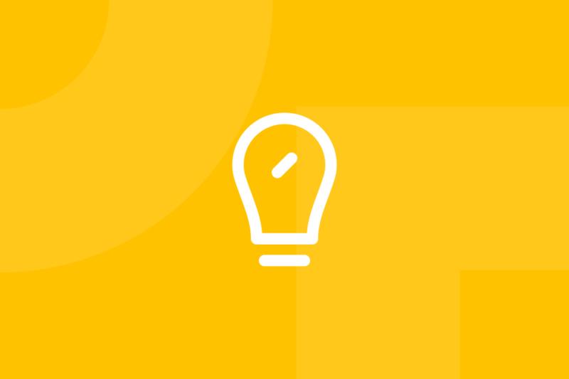 Ícone em tons de amarelo alusivo ao termo SMART goals