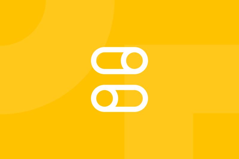 Ícone em tons de amarelo alusivo ao termo UI components