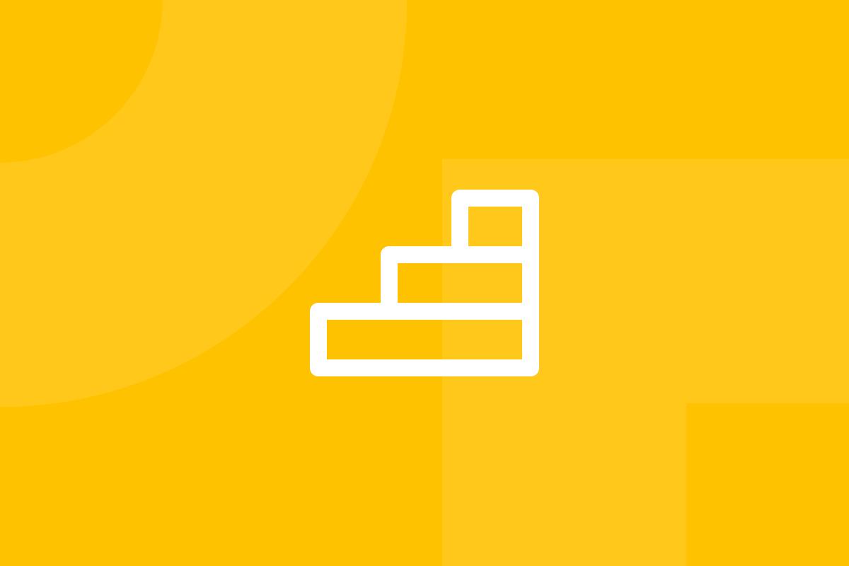 Ícone em tons de amarelo alusivo ao termo UX maturity model
