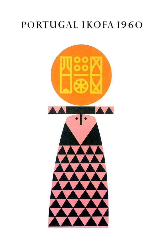 Ilustração do cartaz Portugal Ikofa 1960