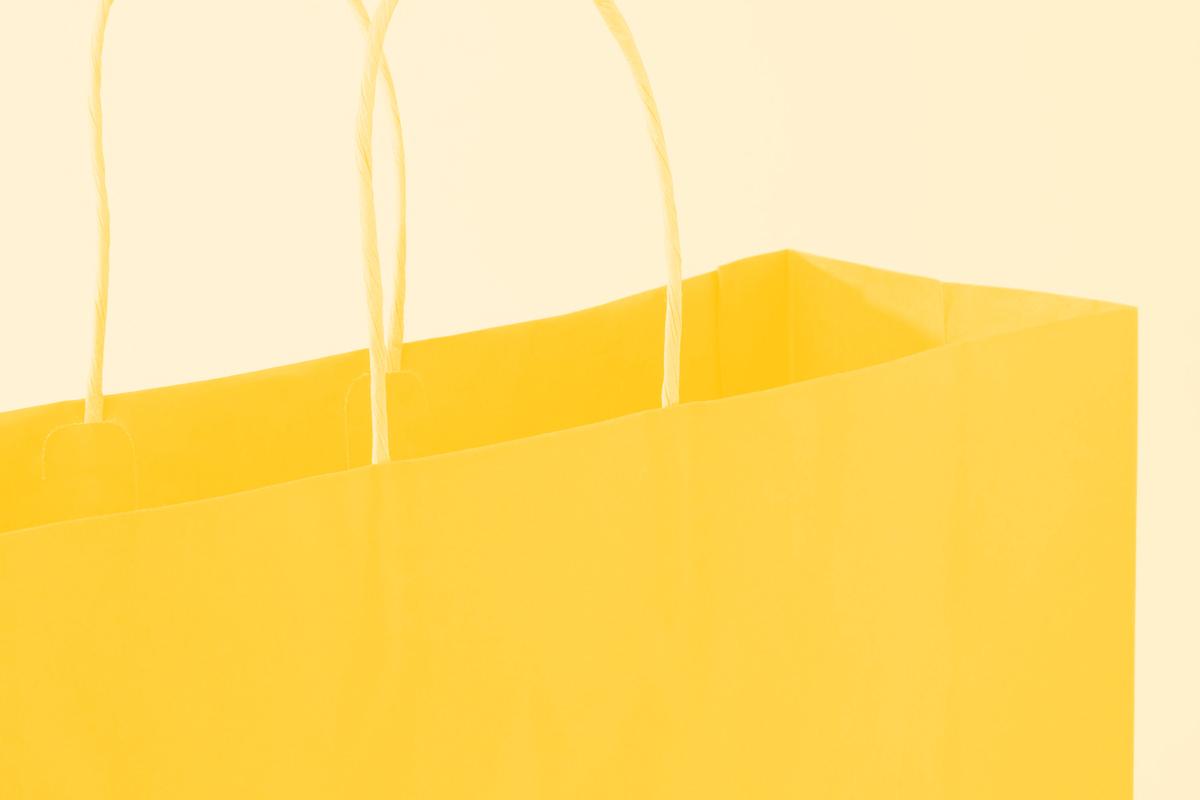 Fotografia de um saco de papel de compras alusiva ao conceito de design systems e da empresa Shopify
