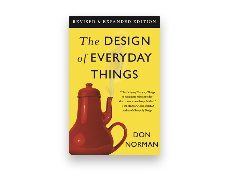 "Fotografia da capa do livro de Don Norman ""The design of everyday things"""