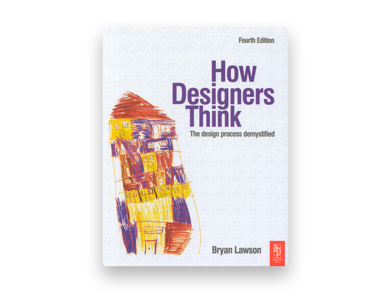 "Fotografia da capa do livro de Bryan Lawson ""How designers think"""