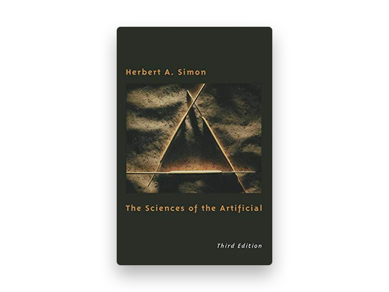 "Fotografia da capa do livro de Herbert Simon ""The sciences of the artificial"""