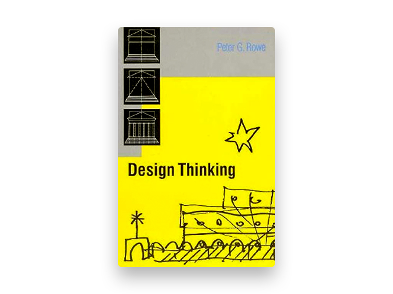 "Fotografia da capa do livro de Peter Rowe ""Design thinking"""