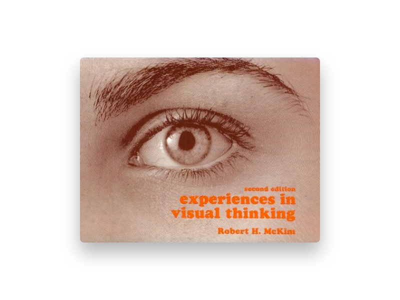 "Fotografia da capa do livro de Robert McKim ""Experiences in visual thinking"""